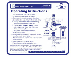 Keco PumpOut Systems Operating Instructions - Large Decal